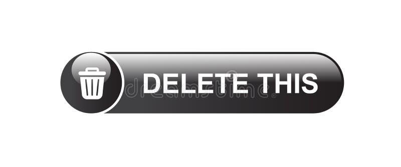 Deleatur guzika kosza na śmieci ikona ilustracja wektor