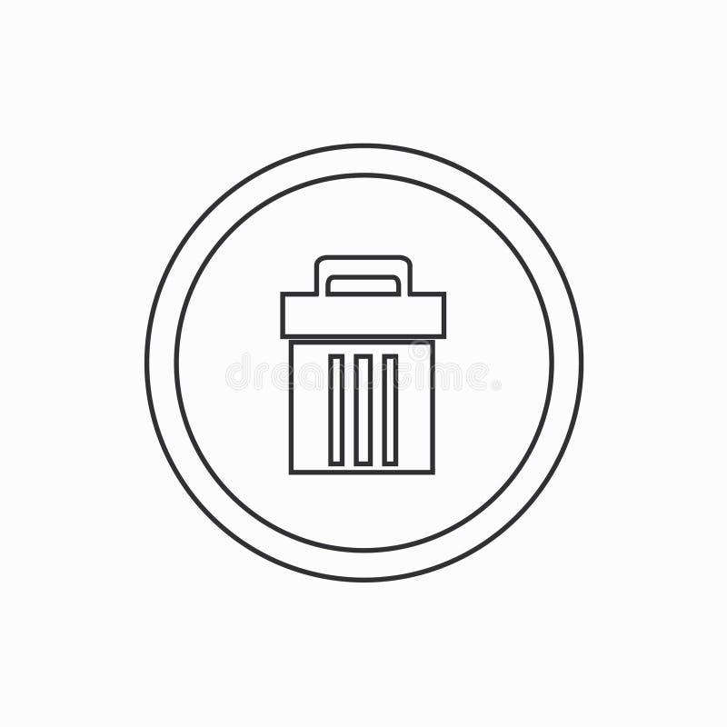 Deleatur ikony wektoru ilustracja Kreskowa ikona ilustracja wektor