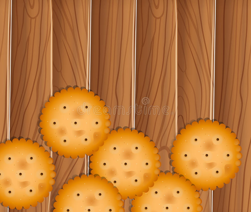 Delectable biscuits. Illustration of the delectable biscuits stock illustration
