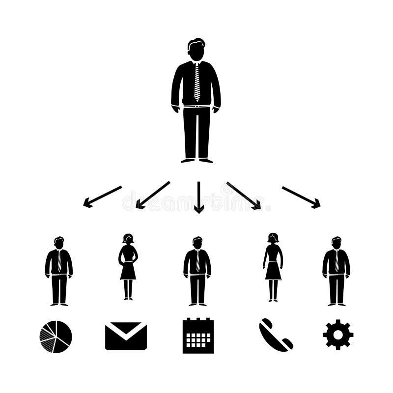 Delegaci ikona ilustracja wektor