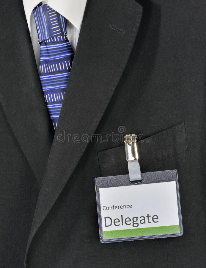Delegado de conferência masculino fotografia de stock