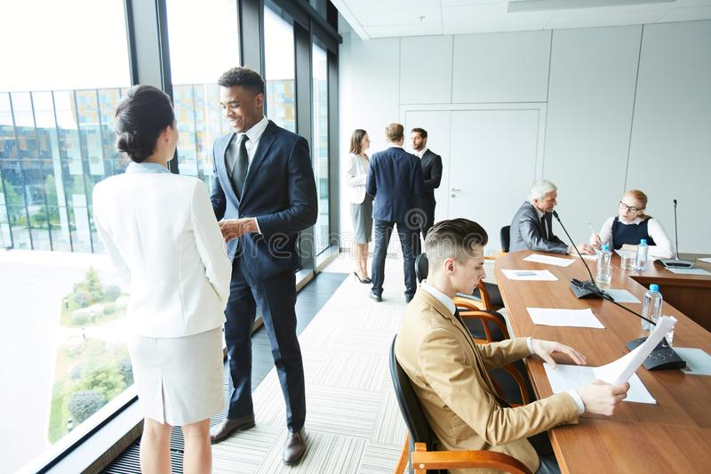 Delegates working royalty free stock images