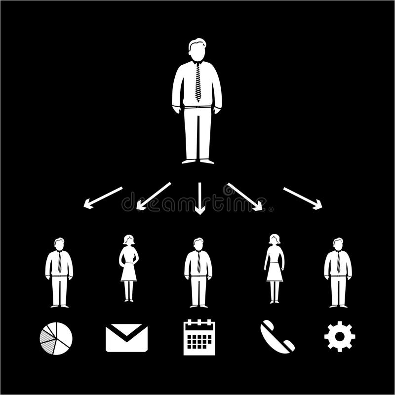 Delegationsymbol vektor illustrationer