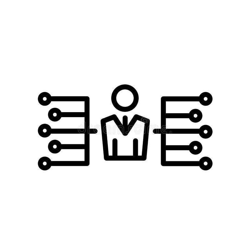 delegatsymbol som isoleras på vit bakgrund stock illustrationer