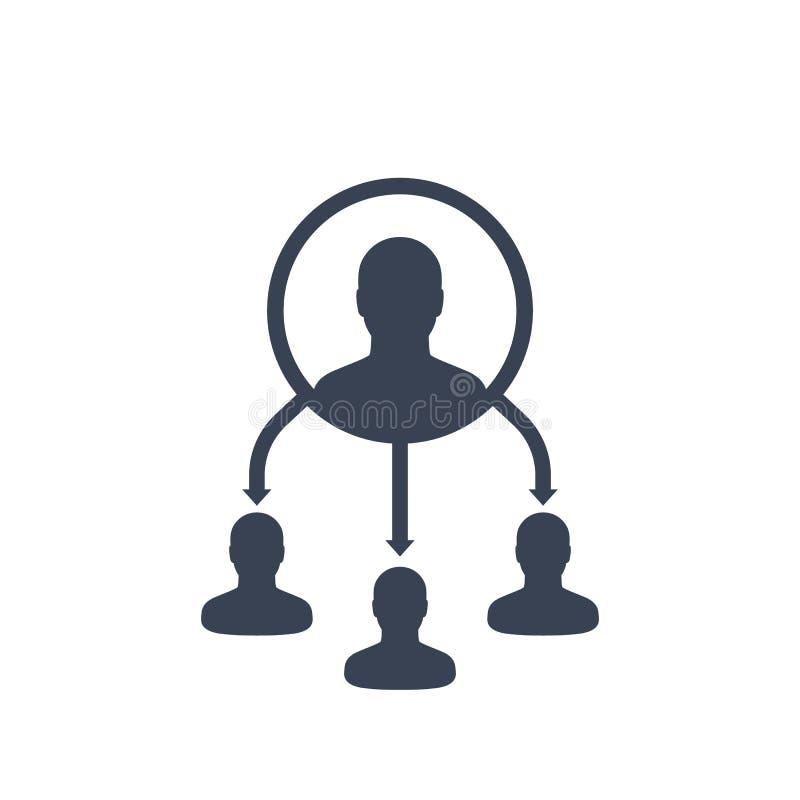 Delegatvektorsymbol vektor illustrationer