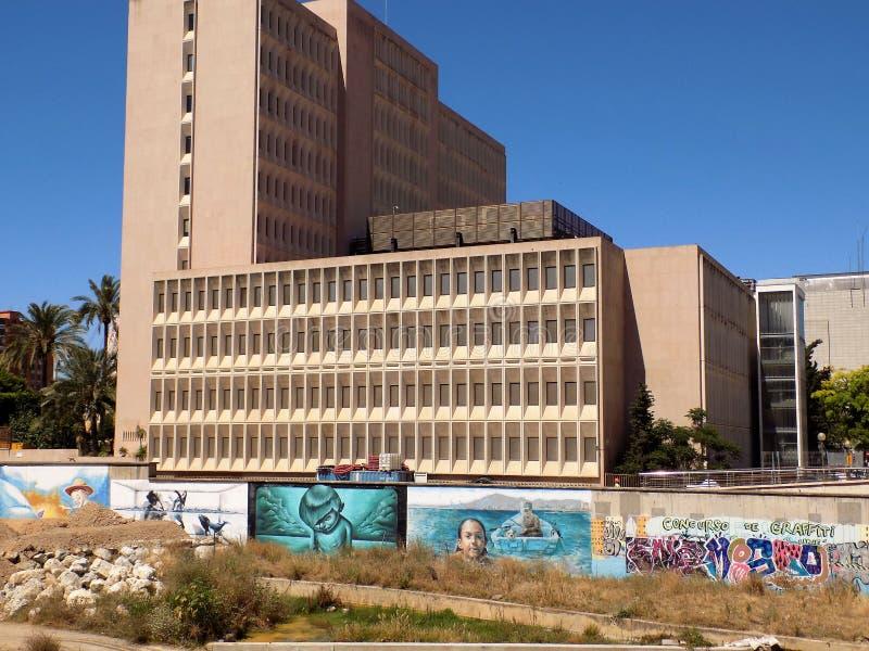 Delegazione delle finanze - graffito-MALAGA immagine stock