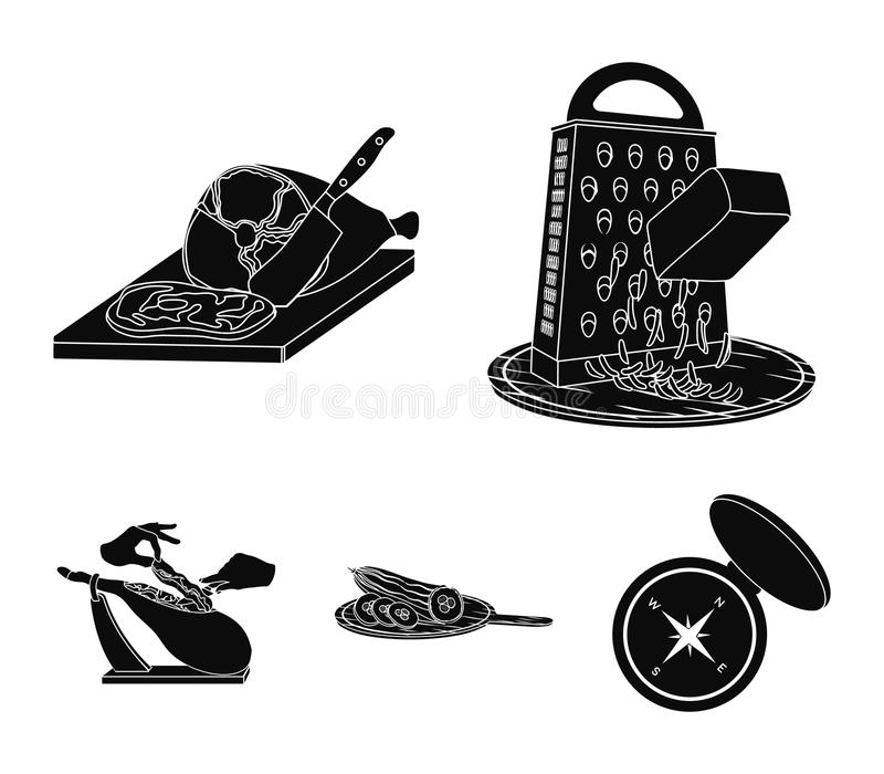 Deleite, dispositivo, ferramenta e o outro ícone da Web no estilo do bleack o cozinheiro, dona de casa, entrega ícones na coleção ilustração stock
