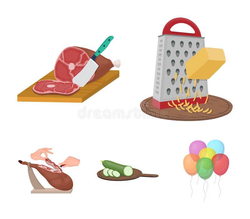 Deleite, dispositivo, ferramenta e o outro ícone da Web no estilo dos desenhos animados o cozinheiro, dona de casa, entrega ícone ilustração royalty free