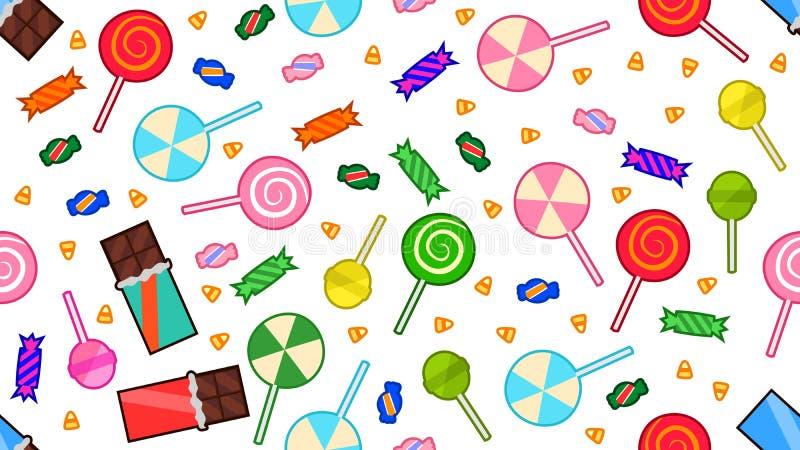 Deleites de Dia das Bruxas dos doces e dos chocolates ilustração stock