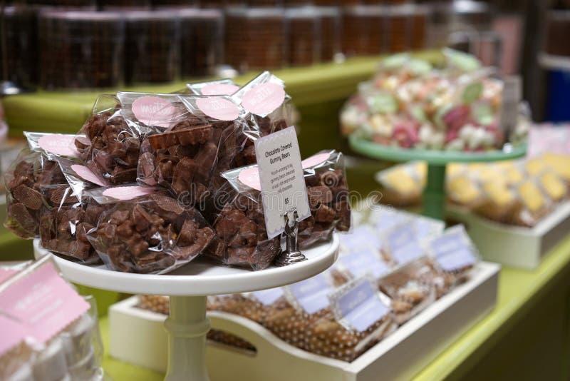 Deleites decadentes do chocolate imagens de stock