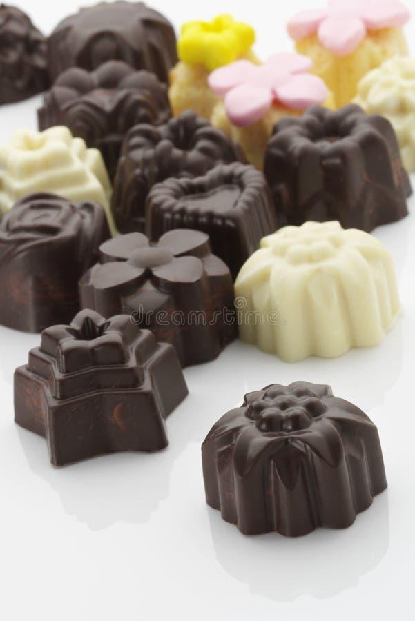 Deleites do chocolate fotos de stock royalty free