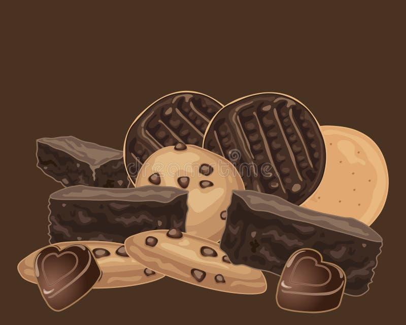 Deleites do chocolate ilustração royalty free