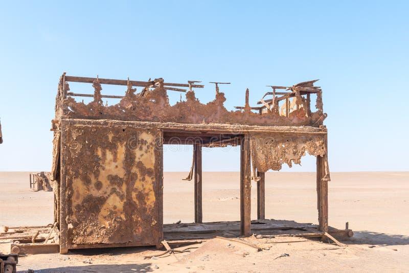 Delen av oljeplattformen mellan den Henties fjärden och Torra skäller royaltyfri fotografi