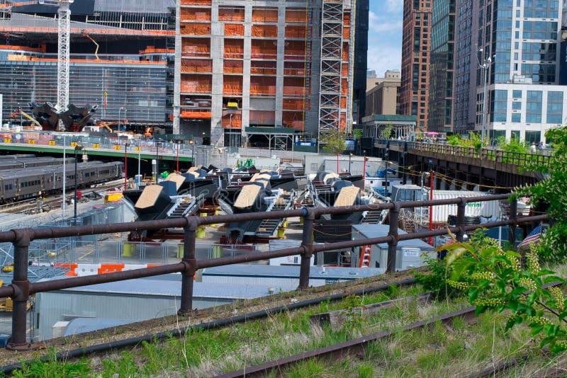 Delen van Hudson Yards Vessel in NYC -3 stock foto's