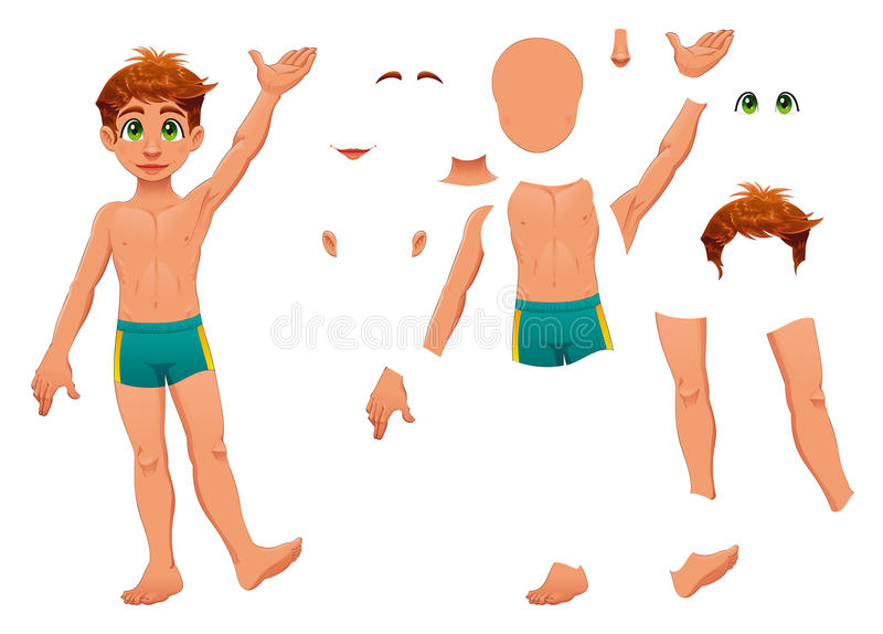 Delen van lichaam. vector illustratie