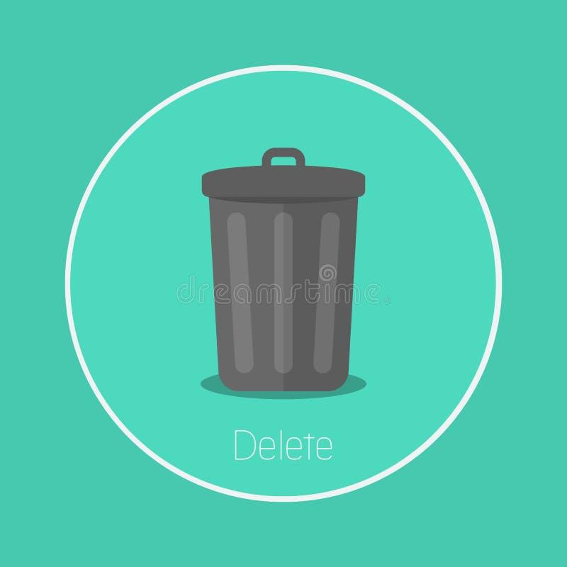 delete иллюстрация вектора