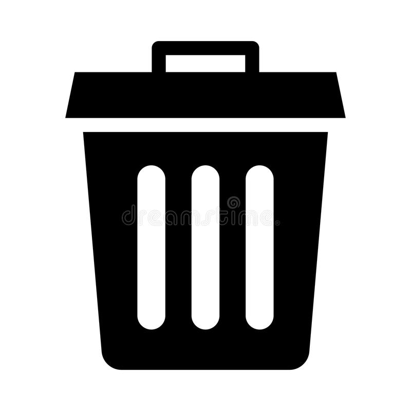 DELETE icon. DELETE glyph vector line icon royalty free illustration