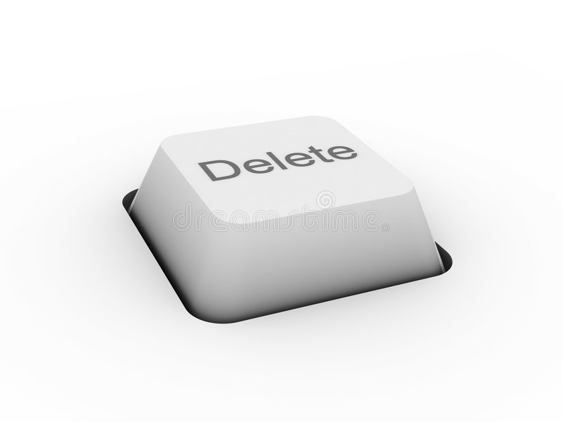 Delete - keyboard button. (image can be used for printing or web royalty free stock image