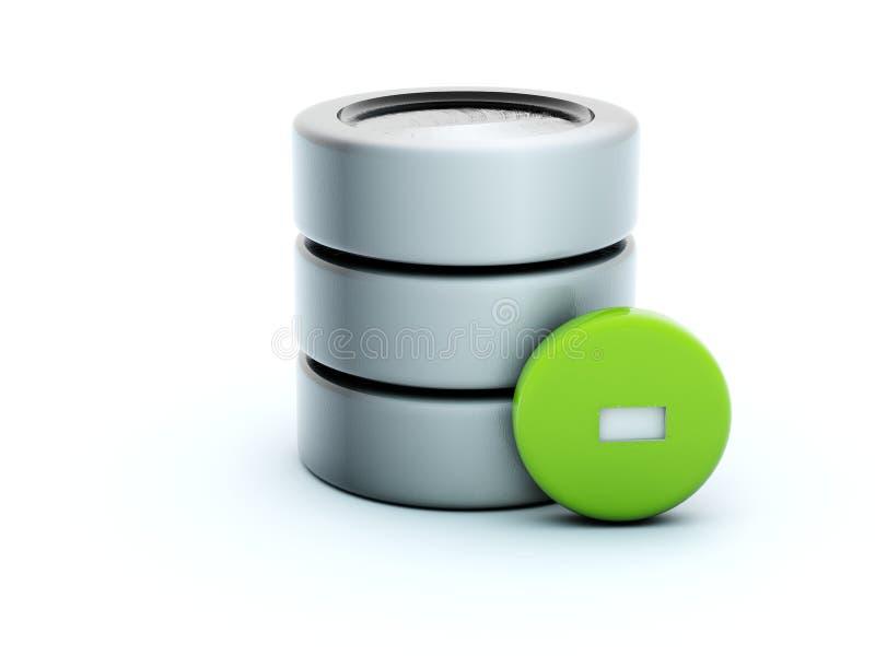 Delete storage icon vector illustration