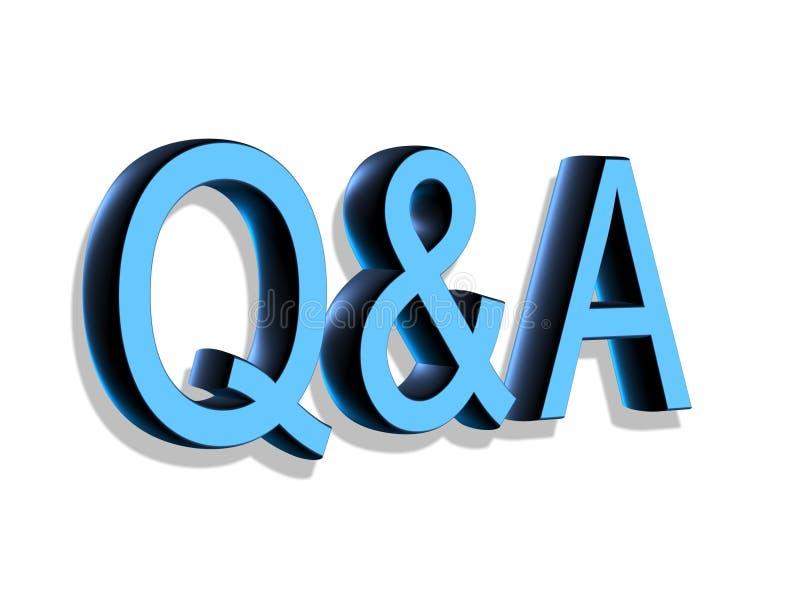 deletreado 3D: Q&A stock de ilustración