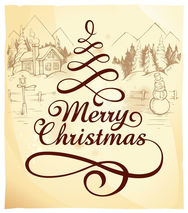 Deletreado caligráfico de la Navidad libre illustration