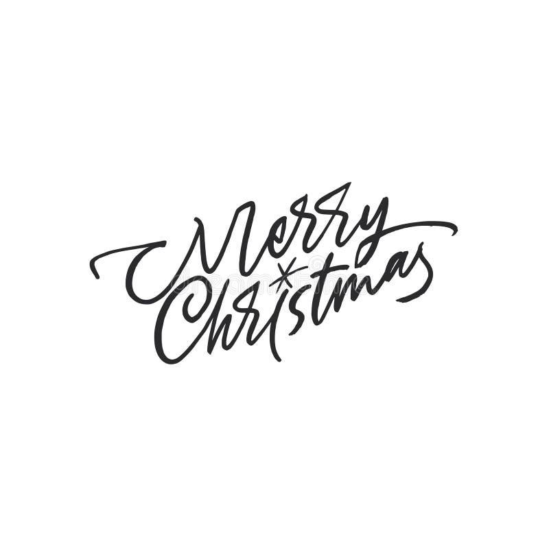 Deletreado de la Feliz Navidad Carde el modelo stock de ilustración