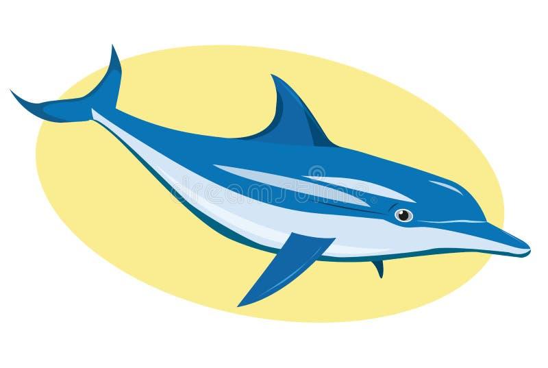 Delfín azul ilustración del vector