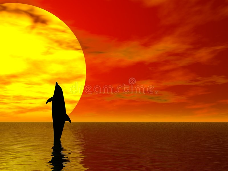 Delfín del baile ilustración del vector