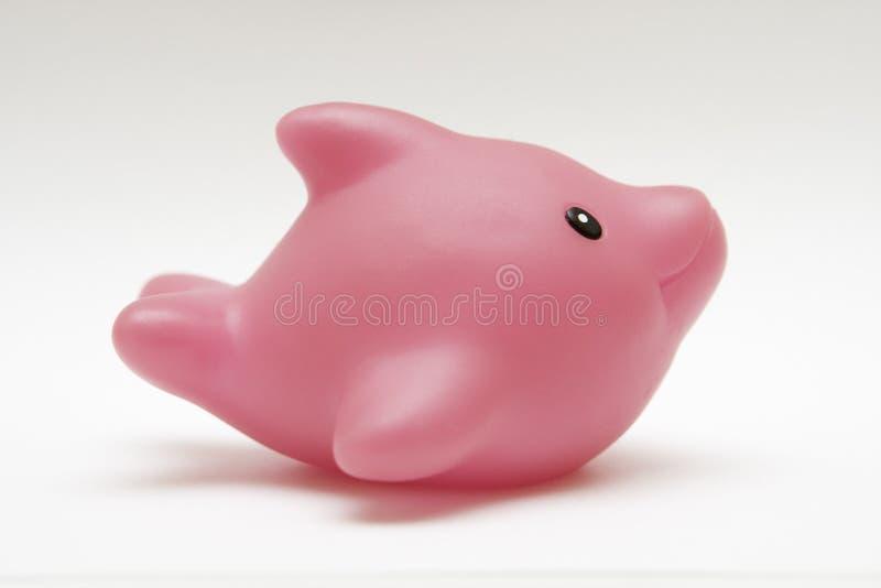 Delfín del caucho del juguete imagenes de archivo