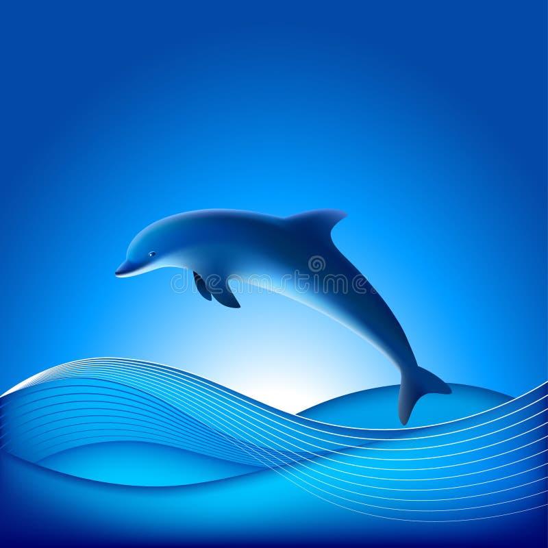 Delfín del vector stock de ilustración