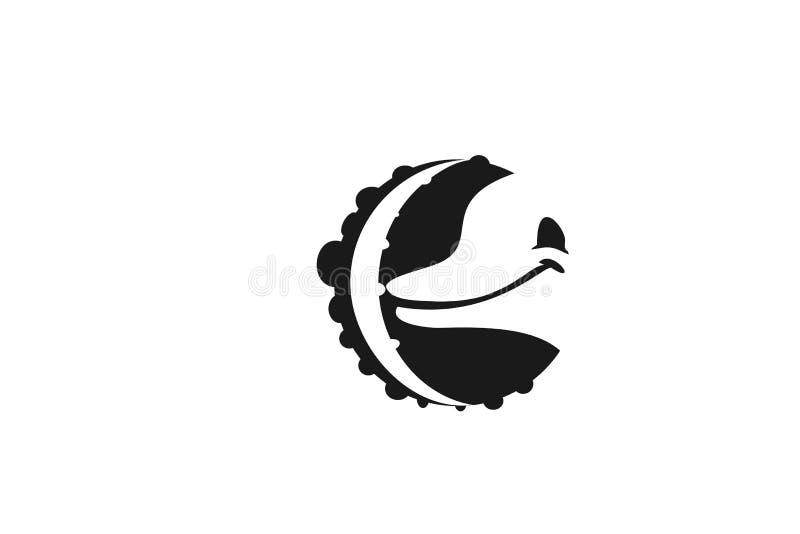 Delfín Logo Designs Inspiration Isolated en el fondo blanco ilustración del vector