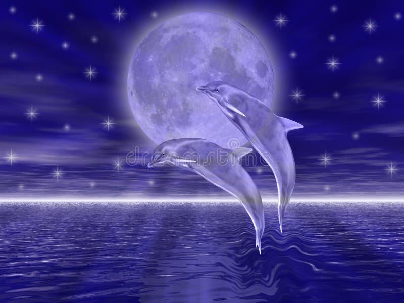 Delfínes stock de ilustración