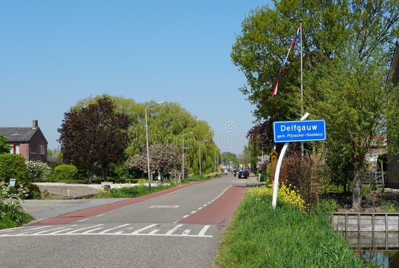 Delfgauw i Nederländerna royaltyfri fotografi