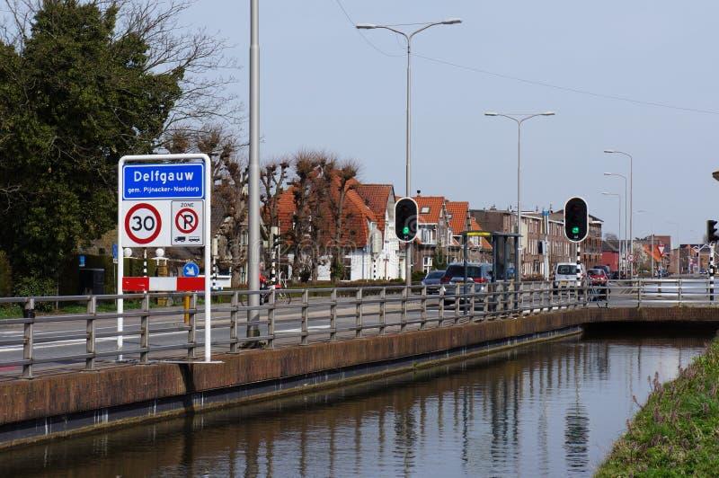 Delfgauw Nederländerna fotografering för bildbyråer