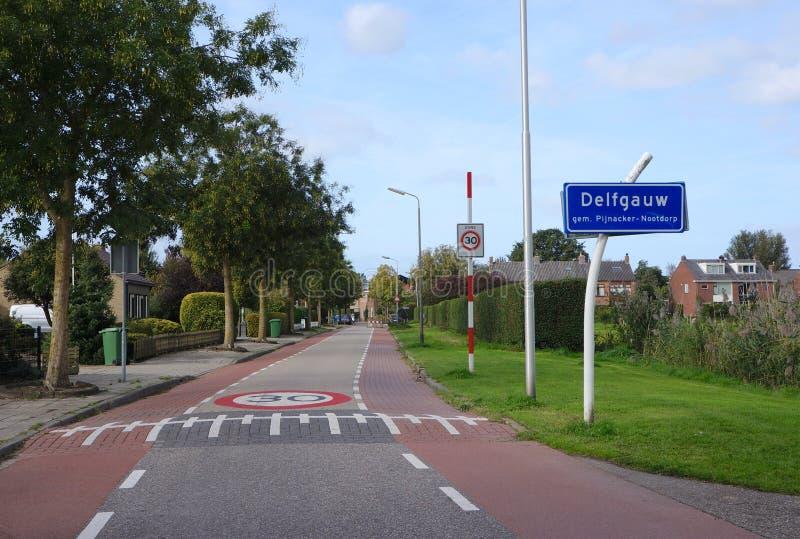 Delfgauw Nederländerna arkivbild