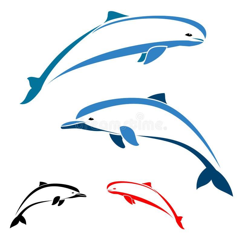Download Delfin vektor illustrationer. Illustration av element - 27281324