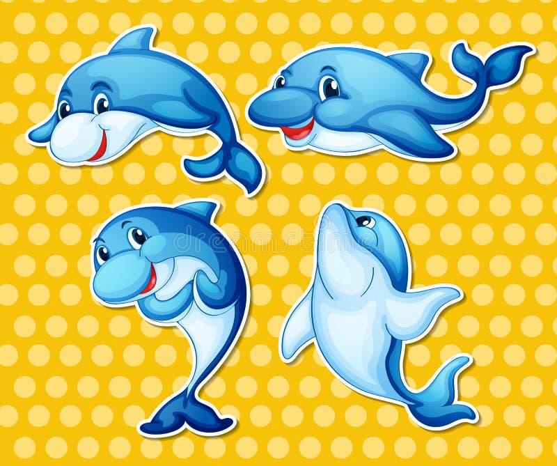 delfin ilustracja wektor