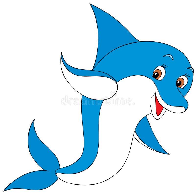 Delfin stock illustrationer