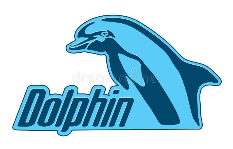 delfin ikona ilustracja wektor