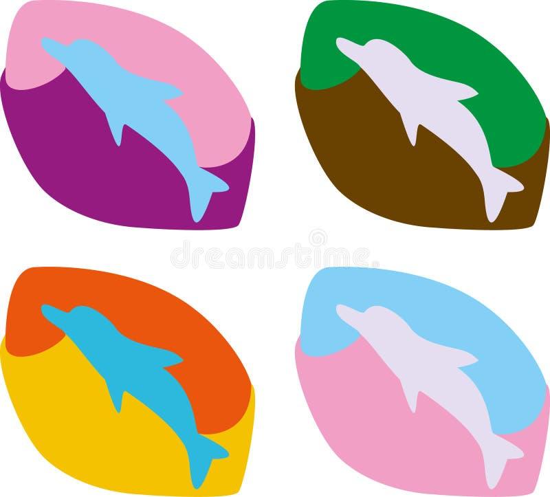 Delfin ikona royalty ilustracja