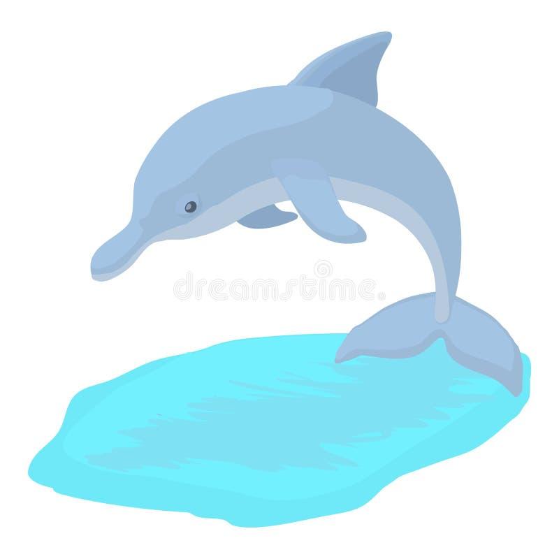 Delfin ikona, kreskówka styl royalty ilustracja