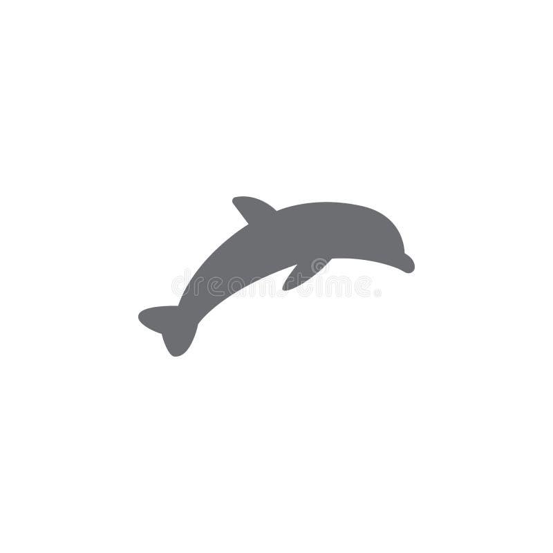 Delfin ikona Prosta element ilustracja delfinu symbolu projekta szablon Może używać dla sieci i wiszącej ozdoby ilustracja wektor