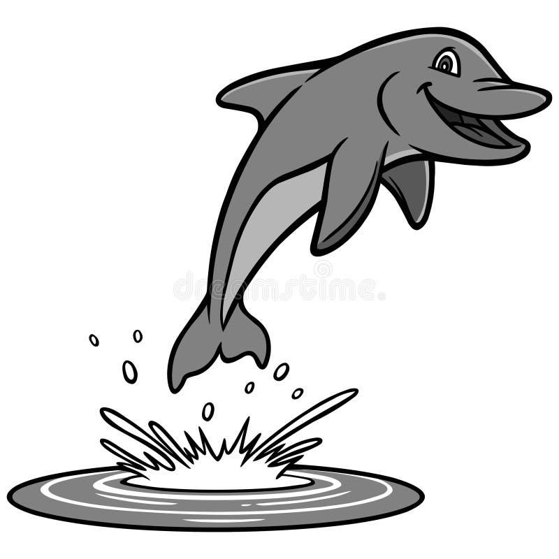 Delfin ilustracja ilustracja wektor