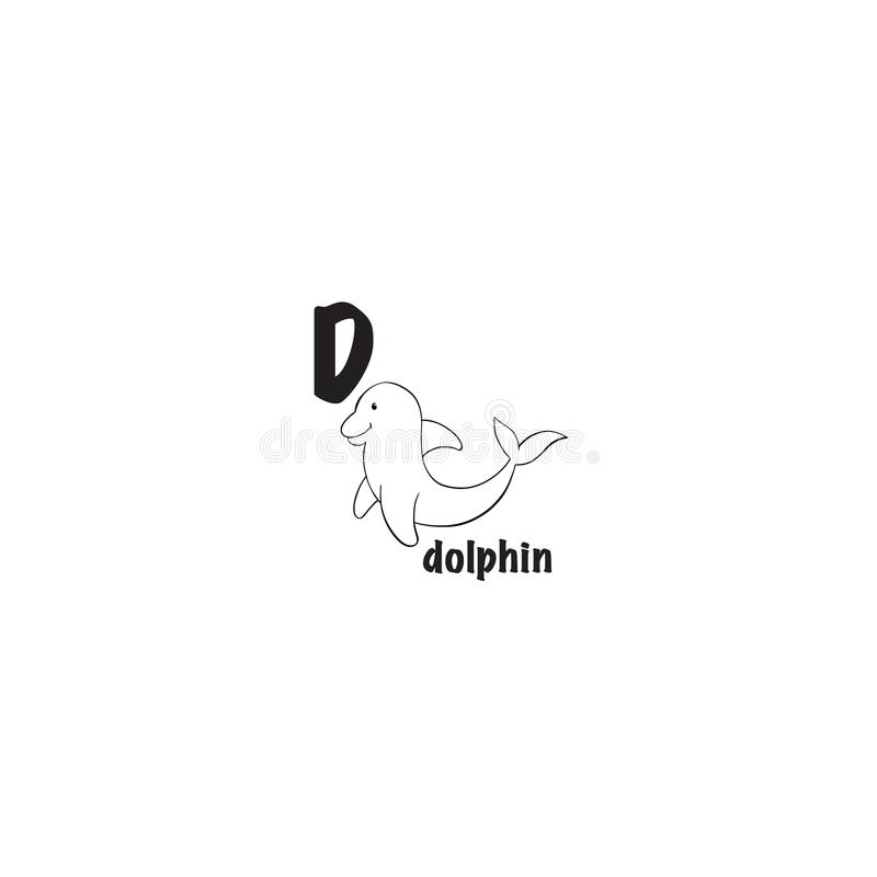Delfin kolorystyki strona ilustracji