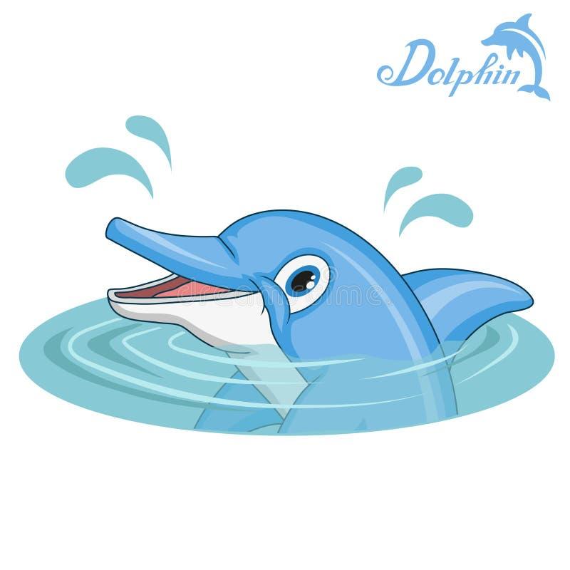 delfin Kreskówka delfin pochodzenie zwierząt kolorów plam Croatia foto ogniska piękną ośmiornice octpous bardzo zróżnicowany morz royalty ilustracja