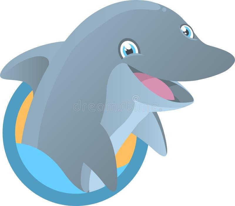 Delfin maskotka royalty ilustracja