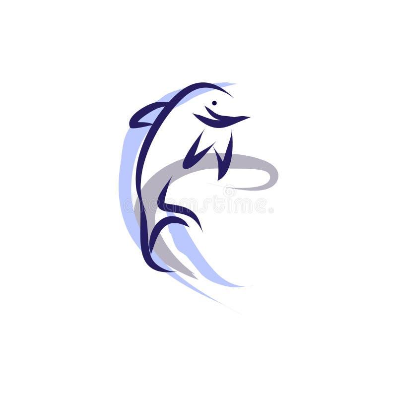 Delfin skacze z wody royalty ilustracja