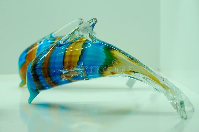 Delfin som göras av exponeringsglas royaltyfri fotografi