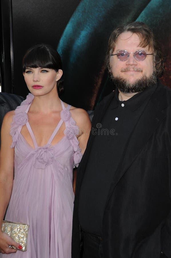 Delfina Chaneac, Guillermo Del Toro fotos de archivo libres de regalías