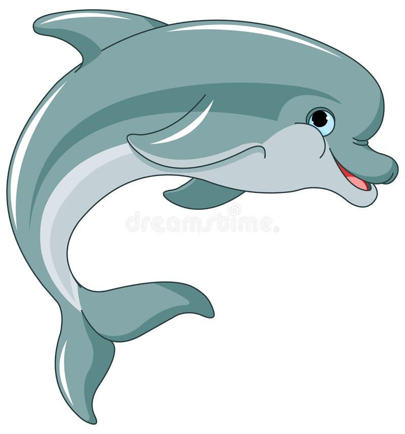 1 delfinbanhoppning vektor illustrationer